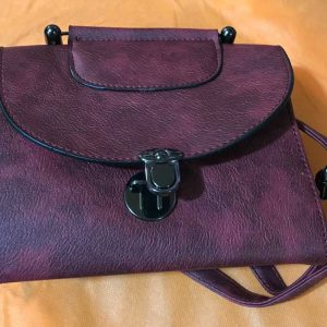 small reddish handbag