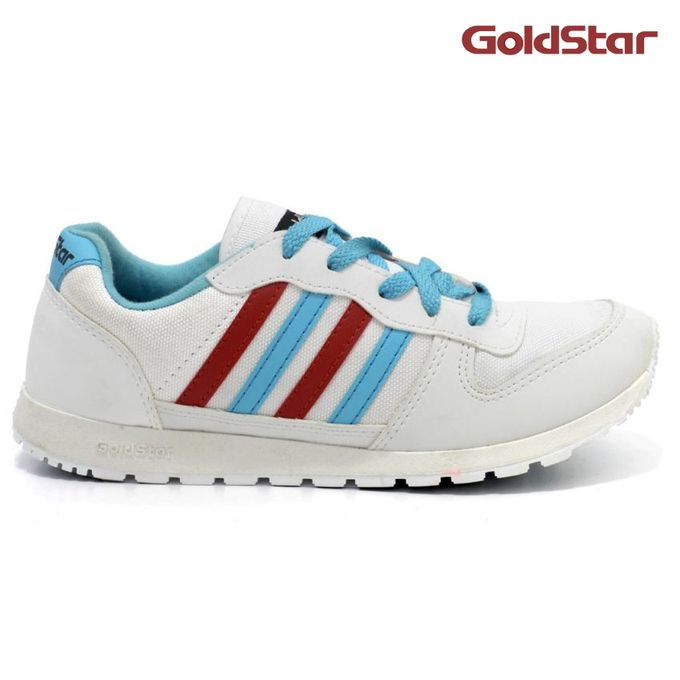 Goldstar Sneaker Shoes- White/Red/Blue