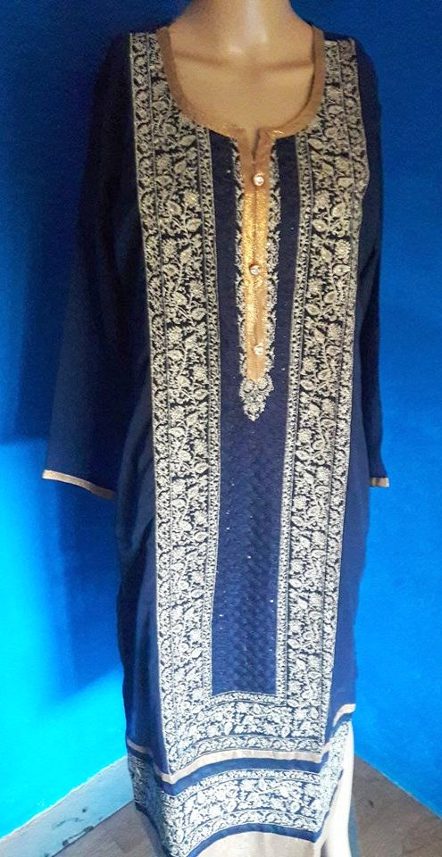 blue black kurthi